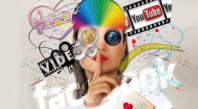 Youtube, sociálne siete, abstraktné