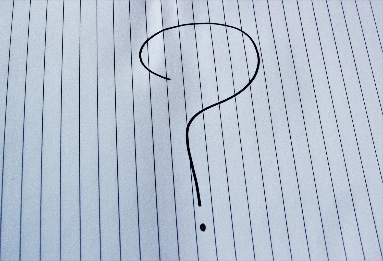 otáznik, papier