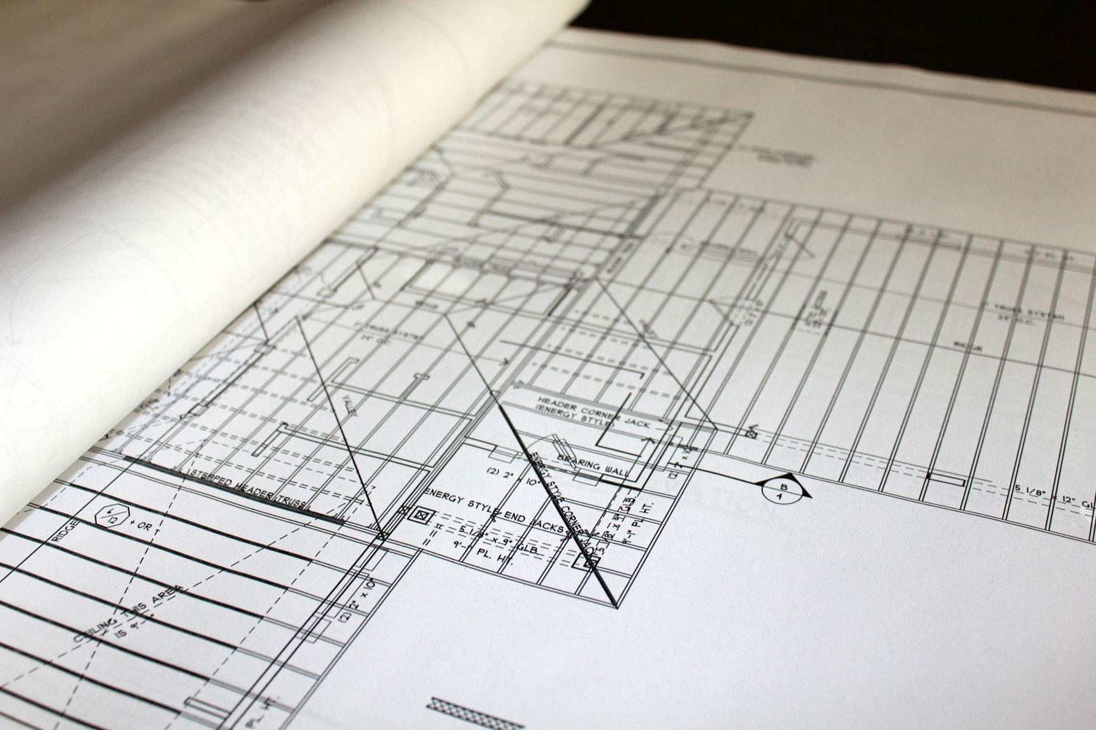 plán, stavba